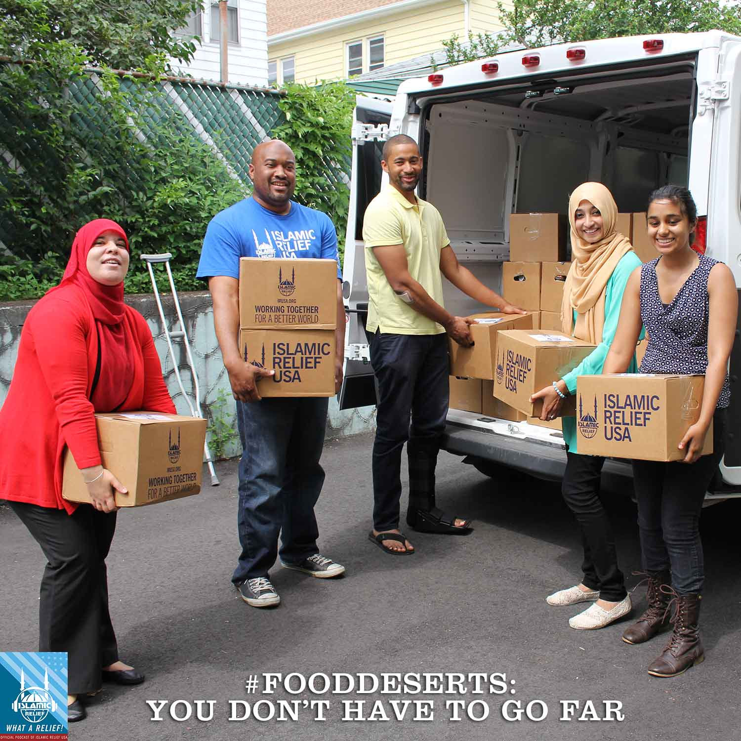 """B.C. Dodge & R. Mordant Mahon talk to Islamic Relief USA's Naeem Muhammad about caring for our communities in this episode of """"What a Relief!"""" — IRUSA's official podcast.  Are you familiar with the term food desert? Many of our American neighbors live in them."""